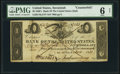 Savannah, GA- Bank of the United States (Second) $5 Nov. 15, 1830 Haxby Unlisted Counterfeit PMG Good 6 Net