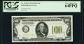 Fr. 2152-G $100 1934 Light Green Seal Federal Reserve Note. PCGS Very Choice New 64PPQ