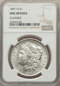 1891-O $1 -- Cleaned -- NGC Details. Unc. Mintage 7,954,529. ...(PCGS# 7208)