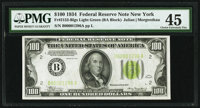 Low Serial Number 1296 Fr. 2152-B $100 1934 Light Green Seal Federal Reserve Note. PMG Choice Extremely Fine 45