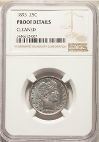 1893 25C -- Cleaned -- NGC Details. Proof. Mintage 792. ...(PCGS# 5679)