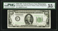 Fr. 2152-C* $100 1934 Dark Green Seal Federal Reserve Note. PMG About Uncirculated 55 EPQ