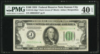 Fr. 2152-J* $100 1934 Dark Green Seal Federal Reserve Note. PMG Extremely Fine 40 EPQ