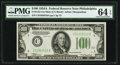Fr. 2153-C $100 1934A Mule Federal Reserve Note. PMG Choice Uncirculated 64 EPQ