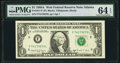 Fr. 1917-F $1 1988A Web Federal Reserve Note. PMG Choice Uncirculated 64 EPQ