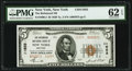 New York, NY - $5 1929 Ty. 2 The Richmond National Bank Ch. # 11655 PMG Uncirculated 62 EPQ