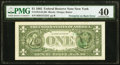 Error Notes:Third Printing on Reverse, Third Printing on Back Error Fr. 1913-B $1 1985 Federal Reserve Note. PMG Extremely Fine 40.. ...