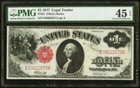Fr. 37 $1 1917 Legal Tender PMG Choice Extremely Fine 45 EPQ
