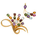 Estate Jewelry:Lots, Multi-Stone, Gold Jewelry. ... (Total: 2 Items)