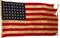 """Military & Patriotic:WWII, US 48-Star Hickam Field """"Remember Pearl Harbor"""" Flag. ..."""