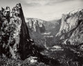 Photographs, Ansel Adams (American, 1902-1984). Sentinel Rock and Yosemite Valley from Glacier Point Trail, Yosemite National Park, Cal...