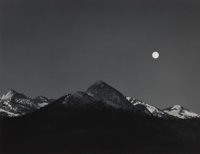 Ansel Adams (American, 1902-1984) Moonrise from Glacier Point, Yosemite National Park, California, circ