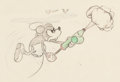 Animation Art:Concept Art, Mickey's Garden Mickey Mouse Layout/Concept Drawing Original Art (Walt Disney, 1935)....