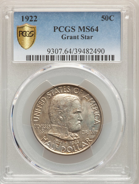1922 50C Grant With Star, MS PCGS Secure 64 PCGS