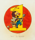 Animation Art:Production Drawing, B-1 World War II Insignia Original Painting by Bill Justice (Walt Disney, c. 1940s)....