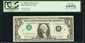Inverted Third Printing Error Fr. 1908-E $1 1974 Federal Reserve Note. PCGS Choice New 63PPQ
