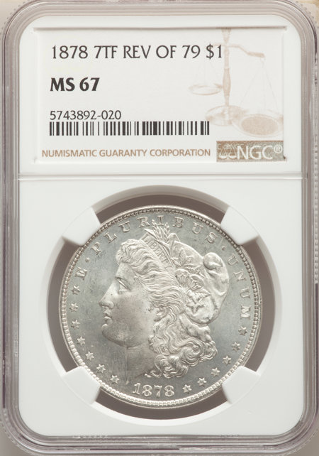 1878 7TF S$1 Reverse of 1879 67 NGC