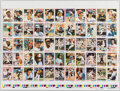 Baseball Cards:Other, 1978 Topps Baseball Uncut Proof Sheet With Stars & HoFers....