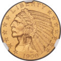 Proof Indian Half Eagles, 1908 $5 PR67 NGC. JD-1, R.4....