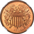 1864 2C Large Motto MS67 Red NGC....(PCGS# 3578)