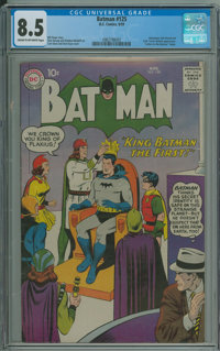Batman #125 (DC, 1959) CGC VF+ 8.5 Cream to off-white pages