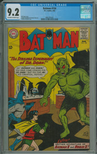 Batman #154 (DC, 1963) CGC NM- 9.2 Off-white to white pages