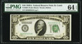 Fr. 2001-H $10 1928A Federal Reserve Note. PMG Choice Uncirculated 64 EPQ
