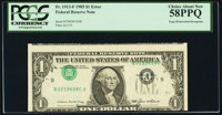 Inverted Third Printing Error Fr. 1913-F $1 1985 Federal Reserve Note. PCGS Choice About New 58PPQ