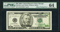 Partial Back to Face Offset Error Fr. 2126-G $50 1996 Federal Reserve Note. PMG Choice Uncirculated 64