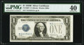 Fr. 1602* $1 1928B Silver Certificate. PMG Extremely Fine 40