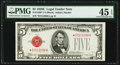 Fr. 1530* $5 1928E Legal Tender Note. PMG Choice Extremely Fine 45 EPQ