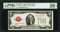 Fr. 1501 $2 1928 Legal Tender Note. PMG Choice About Unc 58 EPQ
