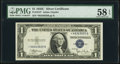 Fr. 1612* $1 1935C Silver Certificate. PMG Choice About Unc 58 EPQ