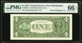 Error Notes:Third Printing on Reverse, Offset Printing of Overprint on Back Fr. 3001-C $1 2013 Federal Reserve Note. PMG Gem Uncirculated 66 EPQ.. ...