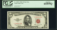 Fr. 1535* $5 1953C Legal Tender Note. PCGS Gem New 65PPQ