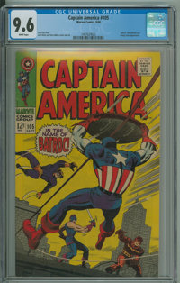 Captain America #105 (Marvel, 1968) CGC NM+ 9.6 White pages