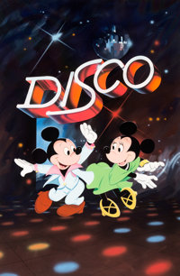 Mickey Mouse Disco Mickey Mouse and Minnie Mouse Theater Poster Illustration by Paul Wenzel Original Art (Walt Disney...