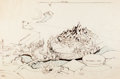 "Animation Art:Production Drawing, Disneyland ""Matterhorn Bobsleds"" Attraction Drawing by Herb Ryman (Walt Disney, c. 1950s)...."