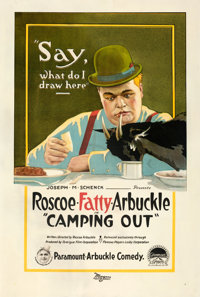 """Camping Out (Paramount, 1919). Very Good- on Linen. One Sheet (28.25"""" X 42"""")"""