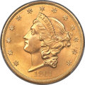 Liberty Double Eagles, 1861 $20 MS65+ PCGS. CAC....