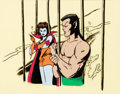 Animation Art:Production Cel, The Marvel Superheroes Show Prince Namor and Lady Dorma Production Cel (Grantray-Lawrence, 1966)....