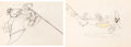 Animation Art:Production Drawing, The Mail Pilot Mickey Mouse and Peg Leg Pete Animation Drawings Group of 2 (Walt Disney, 1933).... (Total: 2 Original Art)