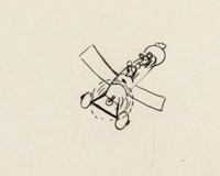 Plane Crazy Mickey Mouse and Minnie Animation Drawing by Ub Iwerks (Walt Disney, 1928-29)