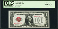 Low Serial Number 1675 Fr. 1500 $1 1928 Legal Tender Note. PCGS Choice New 63PPQ