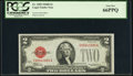 Fr. 1505 $2 1928D Legal Tender Note. PCGS Gem New 66PPQ