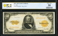 Fr. 1200 $50 1922 Gold Certificate PCGS Banknote Very Fine 30
