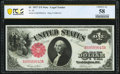 Fr. 36 $1 1917 Legal Tender PCGS Banknote Choice AU 58