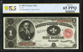 Fr. 351 $1 1891 Treasury Note PCGS Banknote Gem Unc 65 PPQ