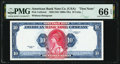 "American Bank Note Company ""Test Note"" 10 Unit 1929 (ca. 1960s-70s) PMG Gem Uncirculated 66 EPQ"