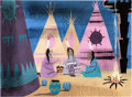 Animation Art:Concept Art, Mary Blair Peter Pan Indian Village Concept/Color Key Painting (Walt Disney, 1953)....